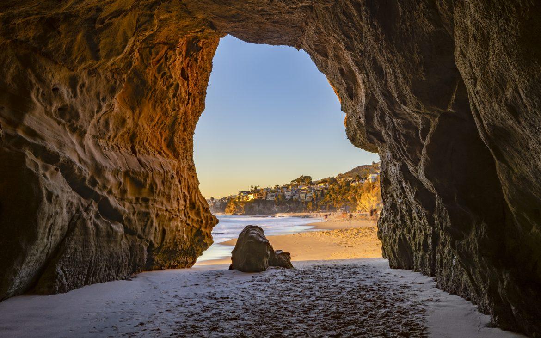 Cave Opening to Beach at Thousand Steps Beach in Laguna Beach