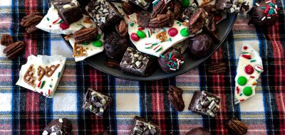 A variety of holiday sweets in a bowl