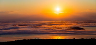 New England puts a special spin Hazy New England Sunrise