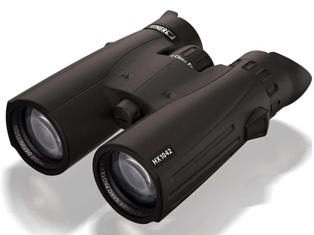 A pair of black binoculars.
