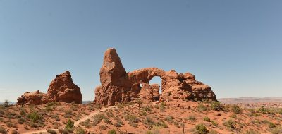 Lone Arch against a blue sky