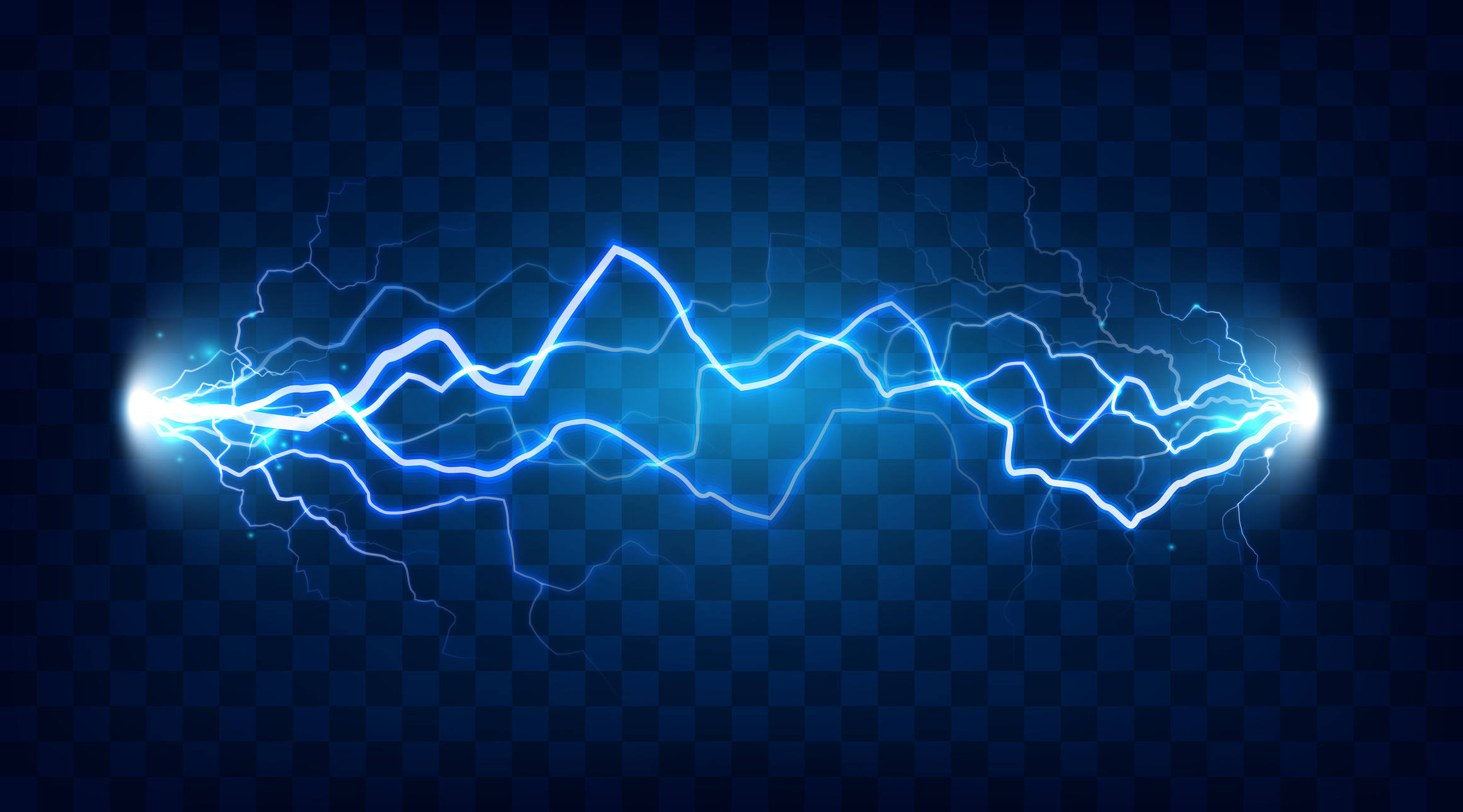 Photo illustration showing electrical current.