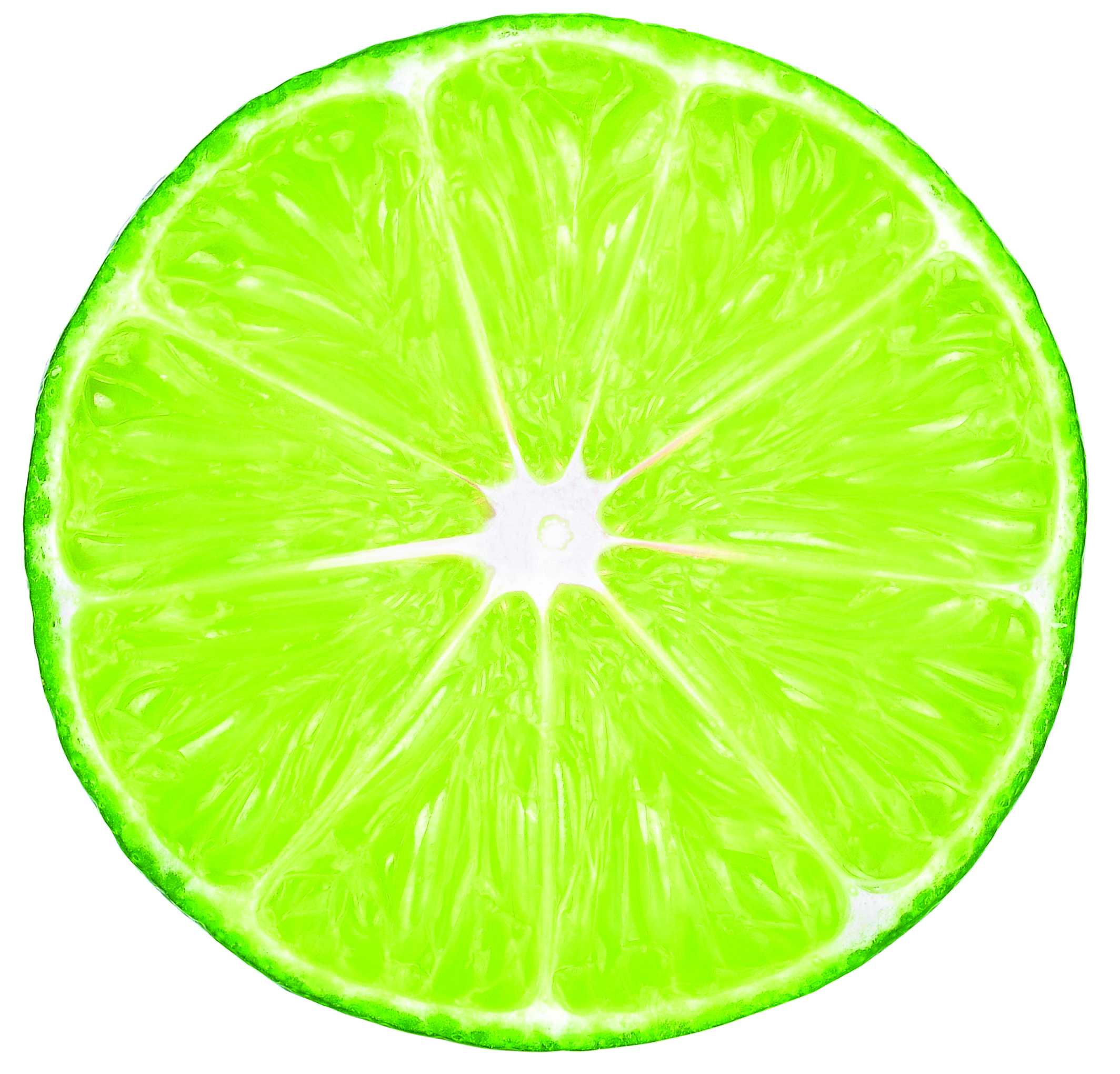 A half of a lime