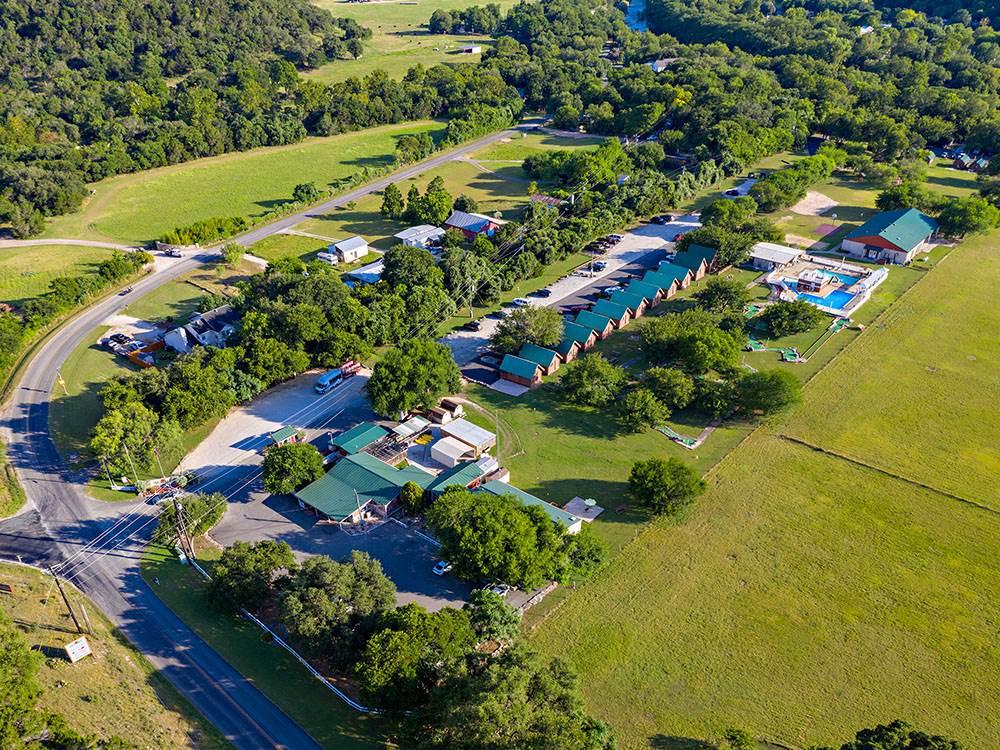 Aerial shot of RV resort