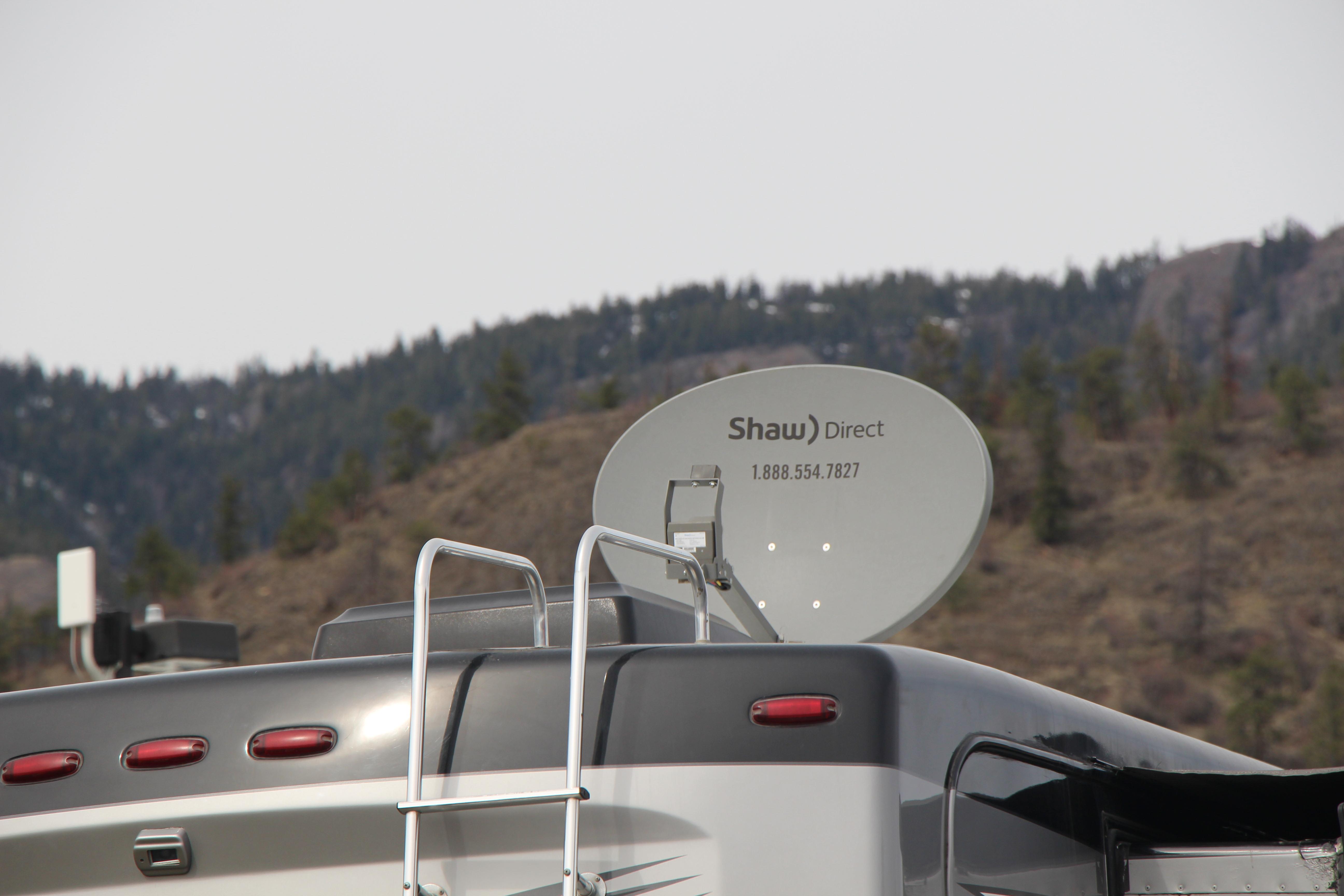 An RV satellite dish.