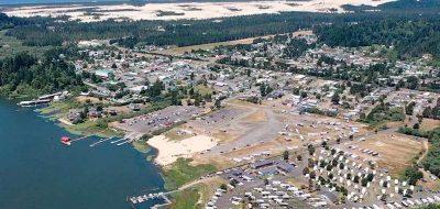 Osprey Point RV Resort and Marina in Oregon — Aerial view of Osprey Resort