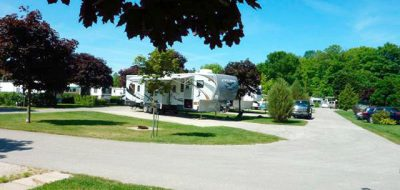 Woodland Park Campground in Ontario offers great paved sites.