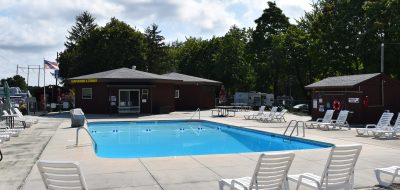 south central Pennsylvania — a pool surrounded by patio chairs