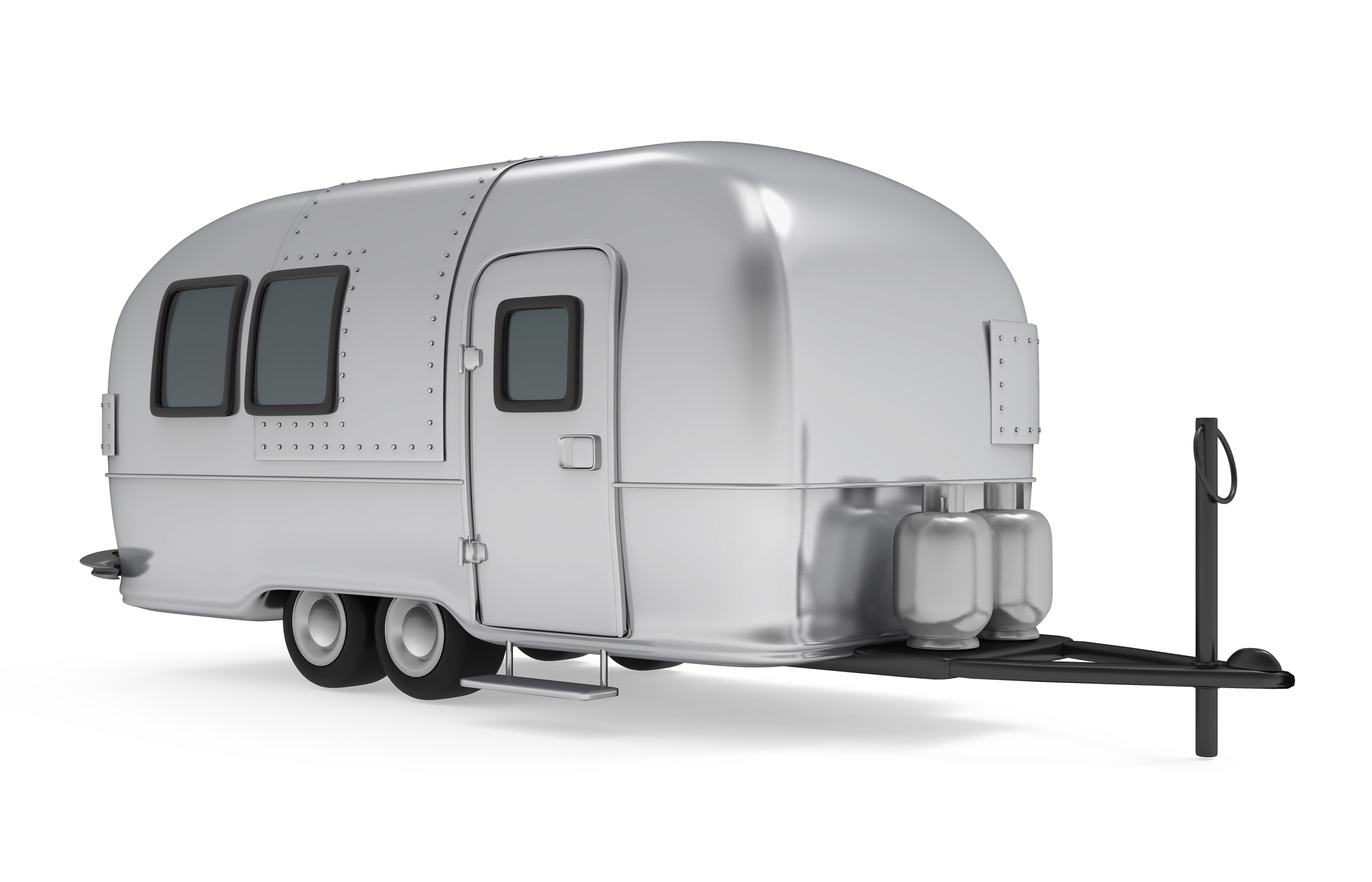Small model of an airstream trailer.