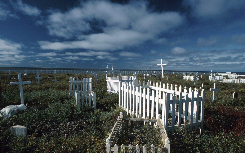 Graveyard in remote outpost of Tuktut National Park in Northwest Territories