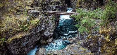 Little Qualicum Falls in Vancouver Island, British Columbia, Canada