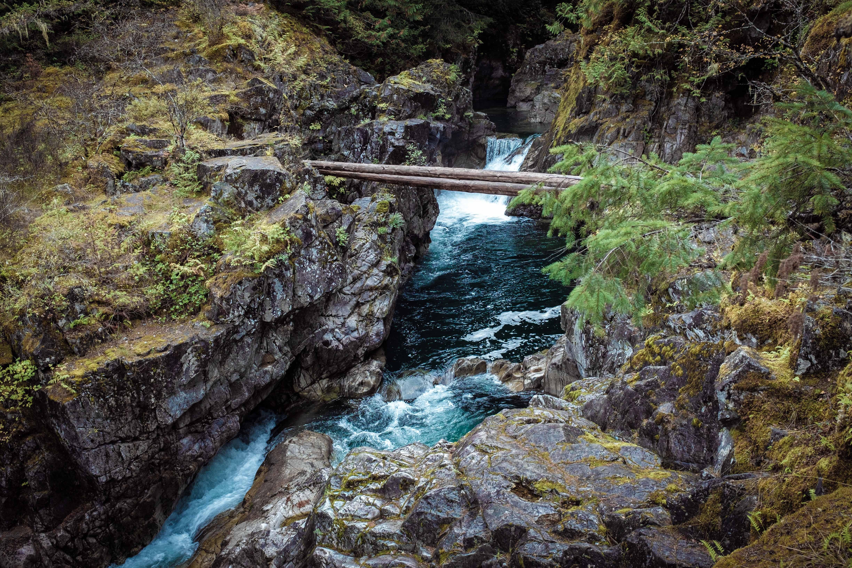Little Qualicum Falls in Vancouver Island, British Columbia, Canada