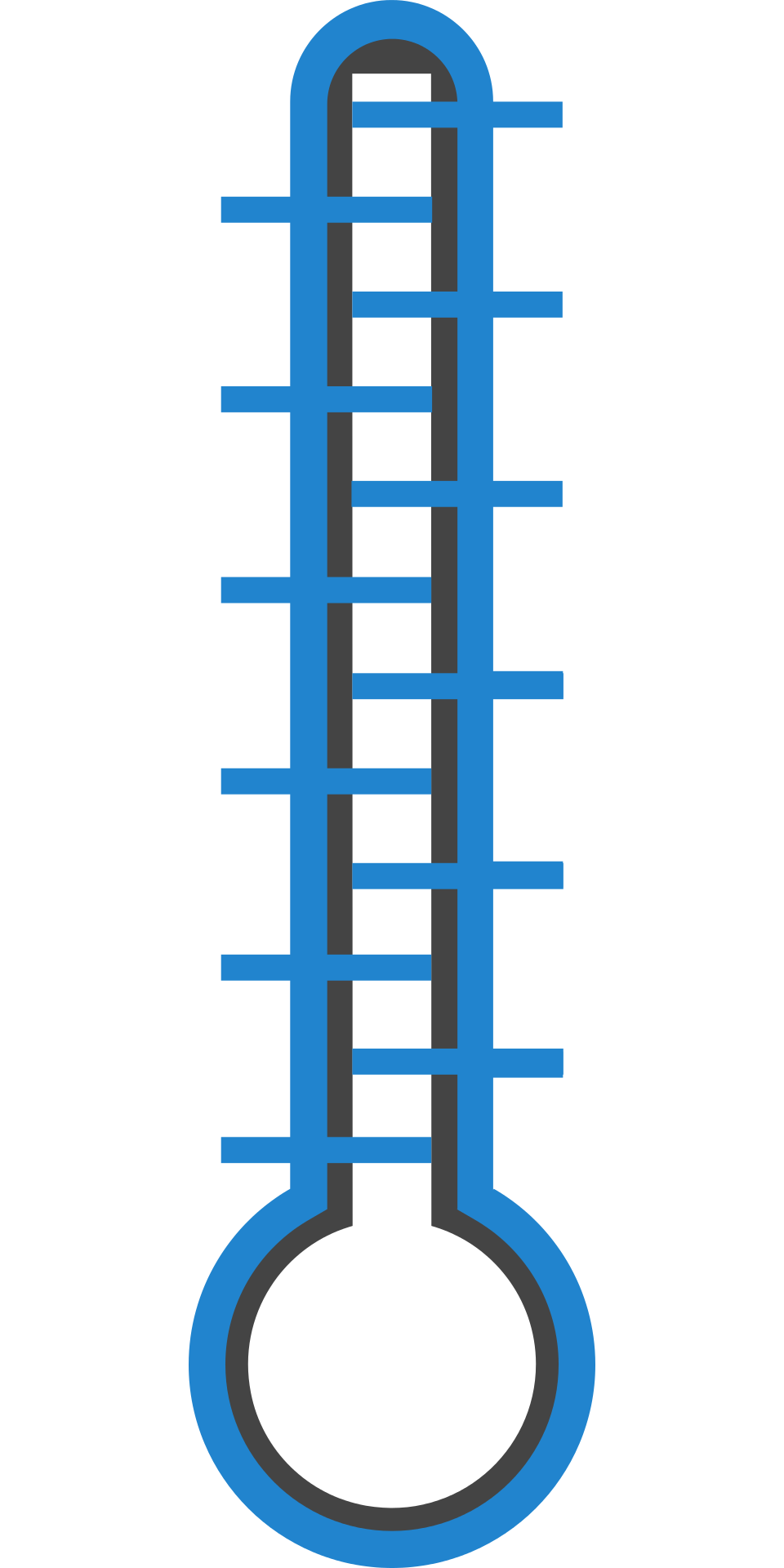 Symbol of a thermometer