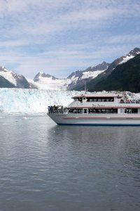 Glacier Excursion —a tour boat navigates Prince William Sound