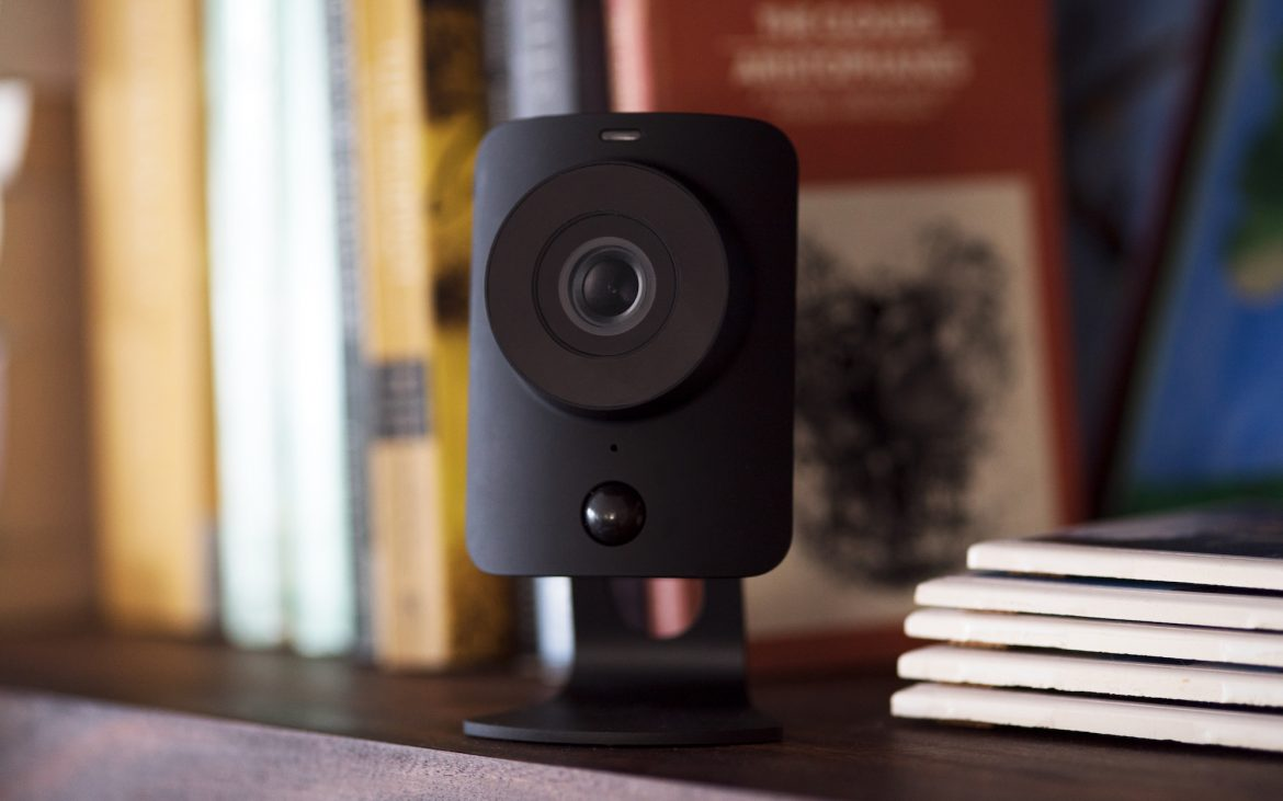 Small security camera SimpliSafe in home