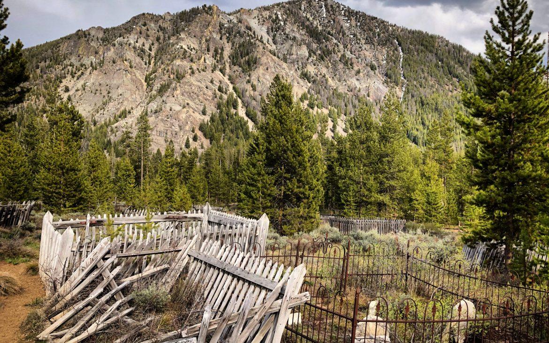 Cemetery in Bonanza, Idaho in the Sawtooth National Recreation Area