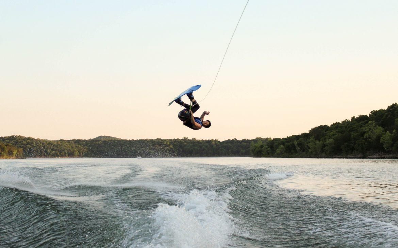 Man wakeboarding at Table Rock Lake
