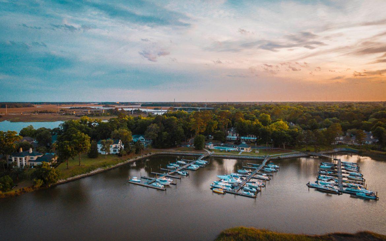 Boats docked in Savannah, GA