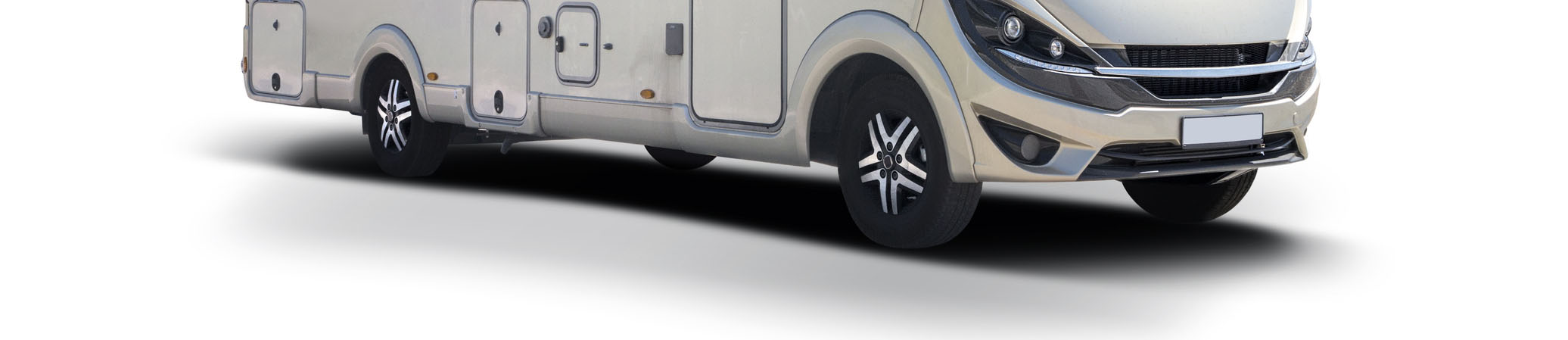 An RV showing its tires.