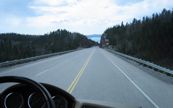 Secure Your RV's Components — drive pov rolling down highway