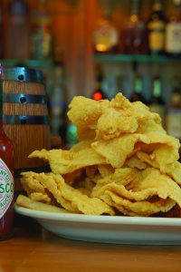 Tangipahoa Parish offers a variety — a plate of battered seafood with Tabasco.