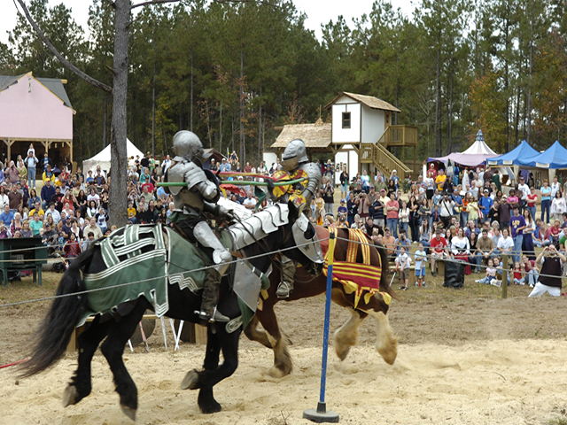 Tangipahoa Parish offers a variety — two knights joust.