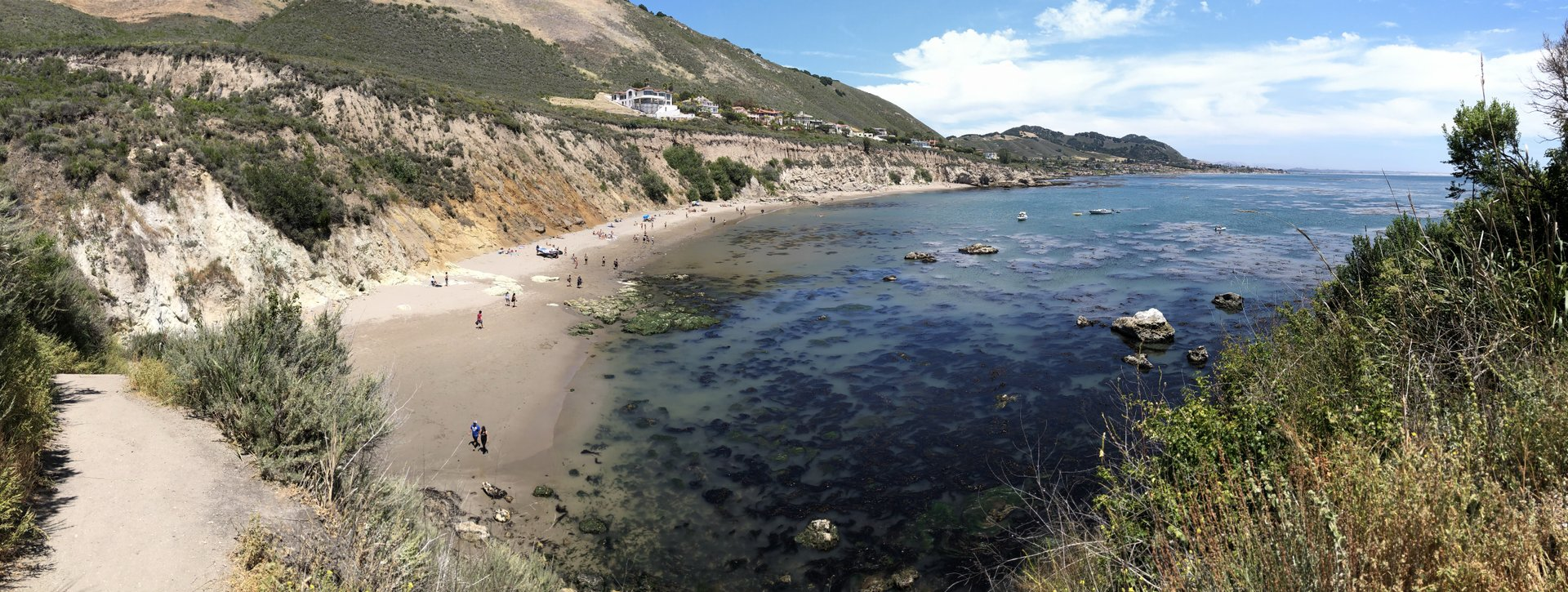 Uncrowded cove on a sunny day.